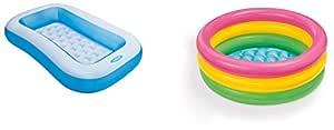 Intex Inflatable Rectangular Pool and 2 Ft Pool Combo