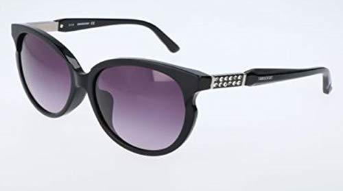 Swarovski sunglasses sk0081 05b-58-16-145 occhiali da sole, nero (schwarz), 58 donna