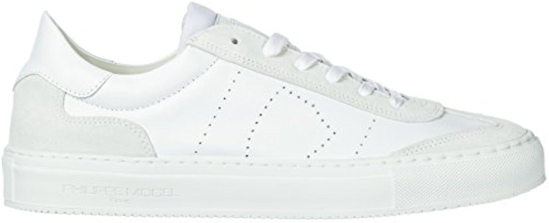 Philippe Model Zapatos Zapatillas de Deporte Hombres en Piel Nuevo Belleville bl -