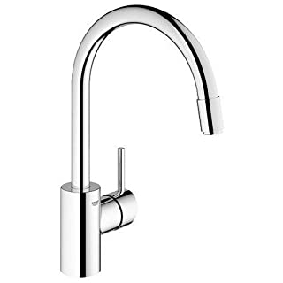 GROHE 32663001 | Concetto Kitchen Tap | Pull-Out Mousseur - chrome