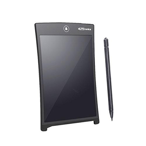 Portronics Portable RuffPad E-Writer 21.59Cm (8.5-inch) LCD with 4 Magnet, Stylus Drawing Handwriting Board, Black