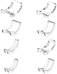 TALITARE 8Pcs Ring Size Adjuster for Loose Rings, Invisible Clear Ring Sizer with 8 Sizes Clear Ring Sizer Res