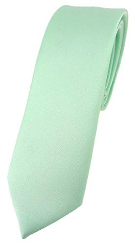 TigerTie schmale Designer Krawatte in mint einfarbig Uni - Tie Schlips -