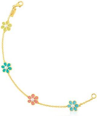 TOUS pulsera de mujer en Plata Vermeil 18kt, con perlas cultivadas de agua dulce. Longitud 17,50 cm
