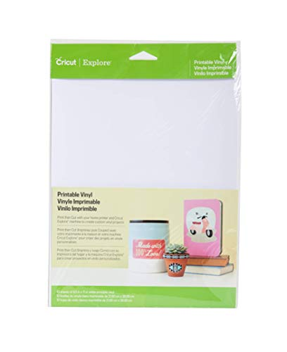 "Cricut Vinyls - 8.5""x11"" White Printable Vinyl (Pack of 10)"