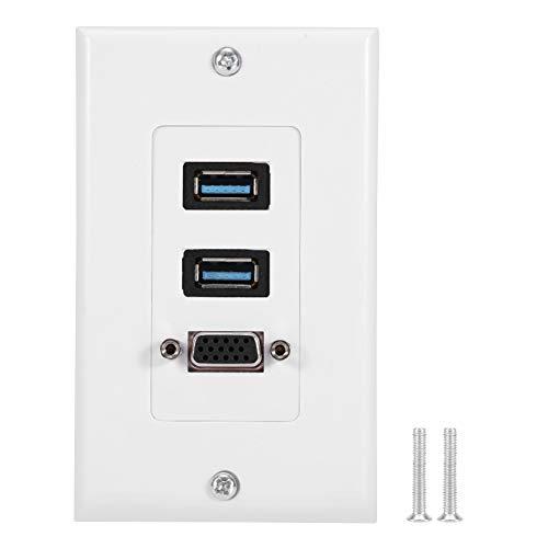 Weißer Port USB 3.0 + VGA der Wand-Platten-Platten-2 für Hotel-Innenministerium-Gebäude -