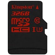Kingston SDCA3/32GB - Tarjeta de memoria microSDHC/SDXC de 32 GB (UHS-I U3, 90R/80 W, SDCA3, solo tarjeta)