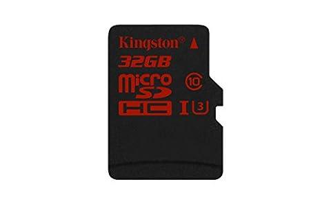 Kingston SDCA3/32GBSP Carte MicroSDHC/SDXC UHS-I U3 90R/80W (SDCA3) Carte Seule