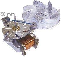 Heißluftherdventilator , Gebläsemotor, Umluftmotor für Backofen, Herd mit Flügel passend für Bosch, Siemens, Neff 096825