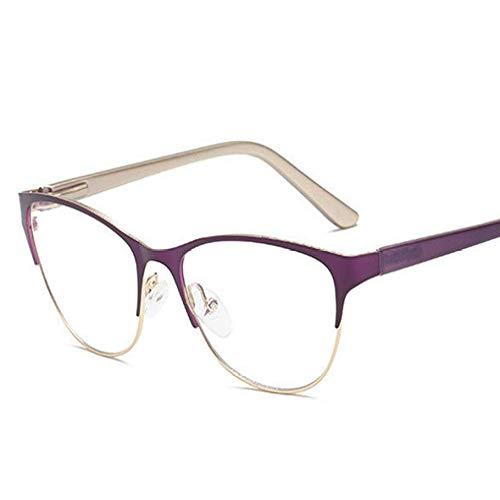 Yangjing-hl Gafas de Sol extragrandes para Mujer de los años 90 Gafas de Sol Bling 400 LadyFrames para Mujer Miopía Óptica Gafas de Negocios Vintage