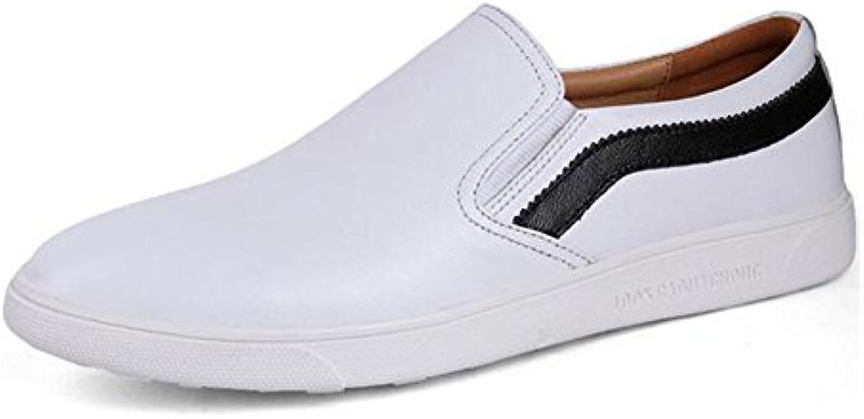 HUAN 2018 Nuevos Pequeños Zapatos Blancos Para Hombre Zapatos Casuales de Cuero Ejercicio Al Aire Libre Zapatillas...