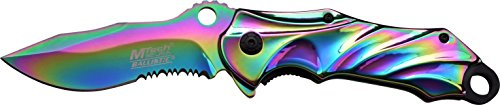 Mtech USA Navaja, Arco Iris De Titanio Capa versión