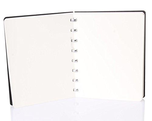 Atoma - Taccuino A5 formato del sachetto, 144 paginas pulito, nero