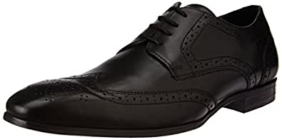 Ruosh Men's Black Leather Formal Shoes - 11 UK/India (45 EU)
