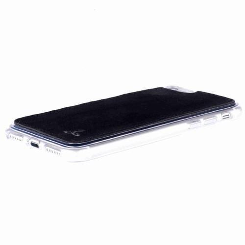 Snakehive ©Apple iPhone 8Vintage Collection Apple iPhone Case arrière en cuir Nubuck pour(Prune) Noir