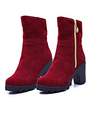 Bombay's Finest Fashion Women's High Heel Red Boots   Girls Shoes 2019