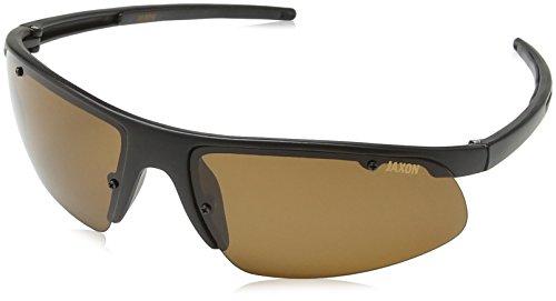 Jaxon Polarisierte Sonnenbrille mit Pastell Seite Schilde Mehrfarbig Bernsteinfarben Einheitsgröße