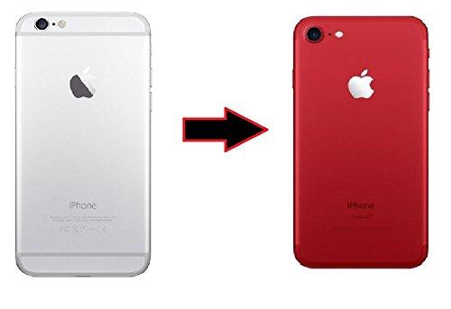 ikazen Apple iPhone 6 / 6s Back Body Film Sticker Wrap Skin - Red