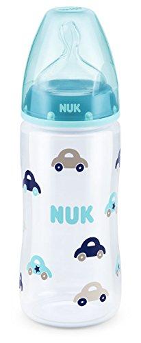 NUK First Choice Plus, biberon per neonato con tettarella in silicone