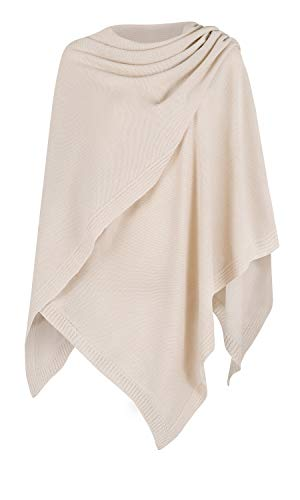 Mikos* Damen Poncho Strick Strickpullover Eleganter Pulli Long Mantel Herbst Winter Viele Farben...