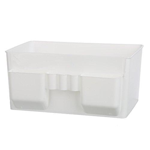 WEIAIXX Kunststoff Kosmetik Remote Kontrolle Lagerung Abendkasse Kommode Desktop Storage Schmuck Haut Pflege Finishing Box Weiß