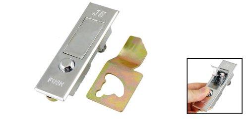 sourcingmap® Runder Druckkopf Silber Ton Rechteckig Metall Ebene Schrank Tür Schloß de