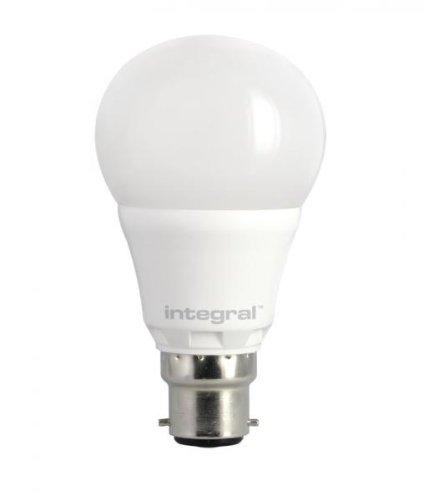 Integral LED ILA60B2206.6D27KBEWA 60-39-79 Ampoule LED B22 470 Lumens Dimmable 2700 K 80cri 240° Opale 6.6 W équivalent à 40 W