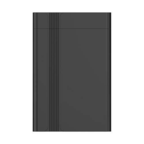 Semoic USB3.0 Hard Disk Box 2,5 Zoll Serieller Anschluss SATA SSD Mechanical Festplatten UnterstüTzung 6 TB Mobile Externe Festplatte (Schwarz)
