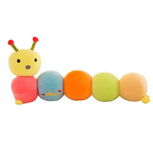 Miss Zhang's shop Simpatico Bruco - Giocattoli di peluches per Bambini Cuscino per Bambola da Compagnia con Schienale Super Morbido 55 Cm Peluche Giocattoli