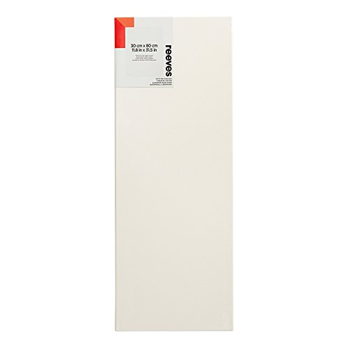 Reeves 8330844 Baumwoll-Keilrahmen, 100% Baumwolle, Säurefrei, Grundiert - 30 x 80cm