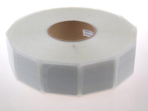 WAMO Beleuchtungen und Reflektoren - Nastro adesivo riflettente 3M per auto, 1 m, per strutture piane, colore: argento/bianco