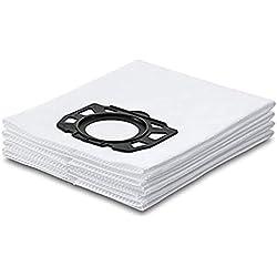 CAOQAO Sac Haute Filtration Hygiene Sachet Filtre Papier pour Aspirateurs Eau Et PoussièRes 4 Sacs Aspirateur Nouveau pour Karcher Aspirateurs pour DéChets Secs Et Humides WD4,WD5, MV4, MV5, MV6