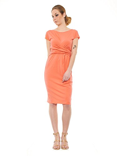 Max Mara Damen Schlauchkleid Kleid orange Corallo M