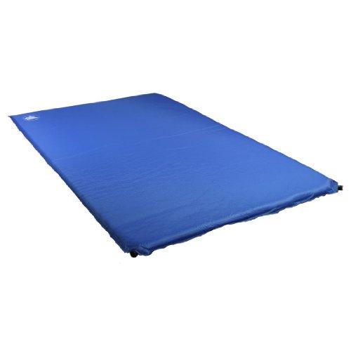 10T Jim Twin Matelas auto-gonflable pour 2 personnes Bleu/Gris 198 x 120 x 5 cm