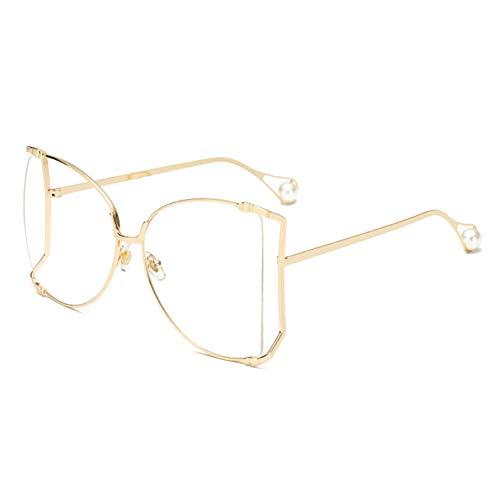Yuanz Übergroße Sonnenbrille Weibliche polarisierte Fahrbrille Herren- und Damen-Universal-Retro-Marke Damenmode,C9