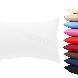 2 x Pillow Case Luxury Cases Polycotton Housewife Pair Pack Bedroom Pillow Cover Fusion(TM)