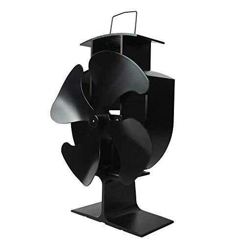 Lincsfire 4Klingen Hitze betriebener Ofenventilator für Warmluftumlauf ökofreundlich für Holz/Holzofen/Kamin