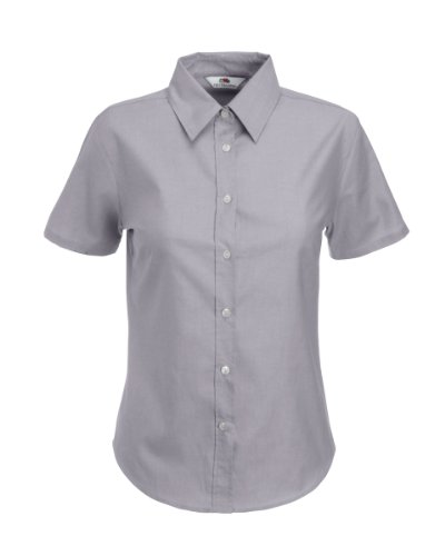 Fruit of the Loom Lady-Fit Shirt S/S Grau