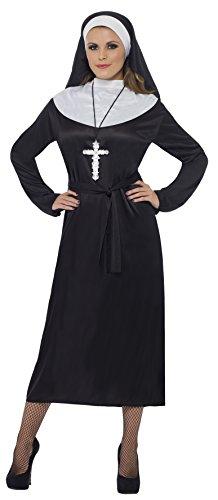 (SMIFFY 'S 20423X 1Nonne Kostüm, Damen, Schwarz, Größe 20–22)