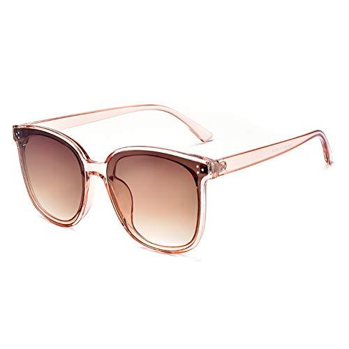 ZMHX Sonnenbrillen Titanlegierung Großes Gesicht Schlanke Sonnenbrille Herren Sonnenbrille Net Red Big Box Trend Polarisierte Große Weibliche Brille