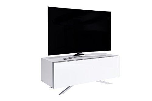 Jahnke Meuble TV SL 5130 AF Bois, Blanc, 45 x 130 x 49,3 cm