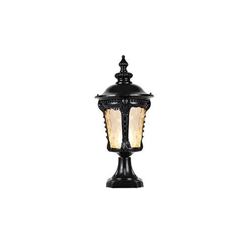 VICTORIA EUROPAL Säulenlampe Außenlampe Standleuchte Wasserdicht IP55 Tischlampe E27 Regen Cortile Garten Terrazza terra Colum Black-h-38cm