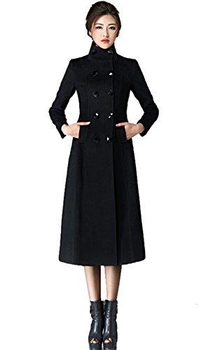 Insun Damen Trenchcoat Mantel Schwarz