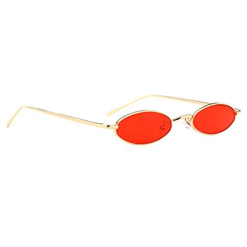 Sharplace Retro Oval Rahmen Katzenaugen Sonnenbrille Damen Herren UV400 Verspiegelt Sunglasses Partybrille - Farbe 5