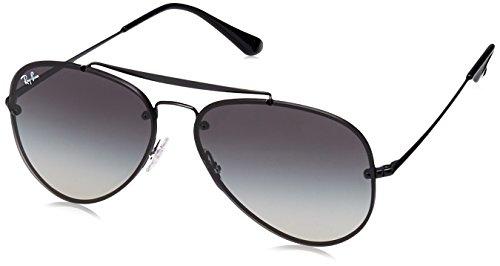 Ray-Ban RAYBAN Unisex-Erwachsene Sonnenbrille 0rb3584n 153/11 61, Demi Glos Black/Greygradientdarkgrey