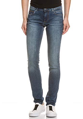 Pepe Jeans Damen Slim Jeans NEW BROOKE, Blau (11OZ BROKEN TWILL USED MD), 26W/34L Broken Twill-denim