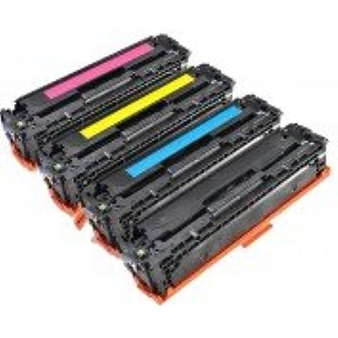 HP CC530/CC531/CC532/CC533–Juego de 4cartuchos Toners Lasers COMPATIBLES–negro/cian/magenta/amarillo