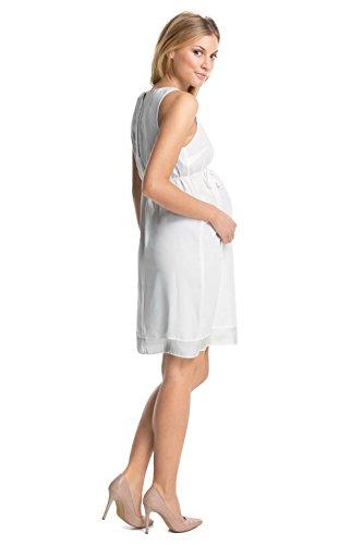 ESPRIT Maternity - Robe spécial grossesse - Trapèze - Femme Blanc blanc Blanc - Blanc