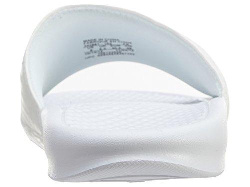 Nike Wmns Benassi Jdi, Tongs Femme Blanco (White / Metallic Silver)