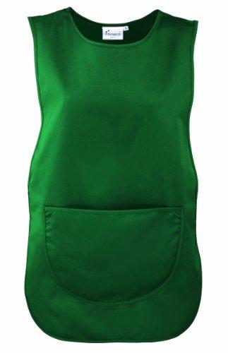 Premier Damen Arbeitsschürze mit Tasche (Large) (Flaschengrün)
